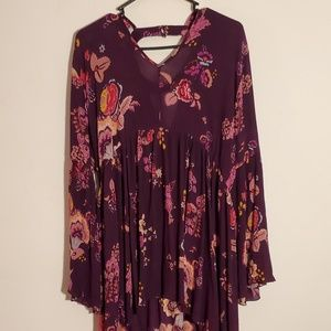 Floral, Boho Style Flowy Patrons of Peace Dress